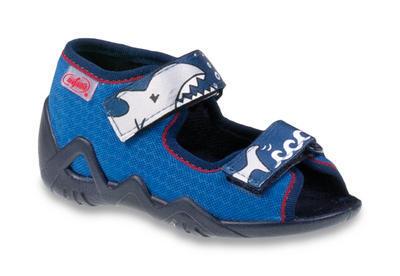 250P069 18 - chl.sandálek 2SZ, modrá, žralok