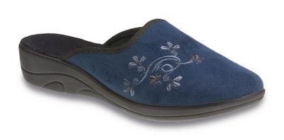 JULA ZŠ, tm. modrá, drobné květy, 552D005 vel. 36