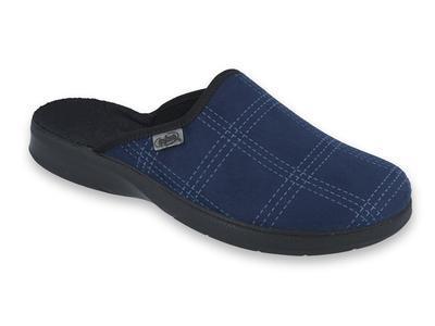 LEON ZŠ 548M006 40, modrá, modré káro