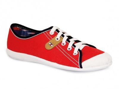 248Q012 36 - dív.tenisky,šněrov., červená