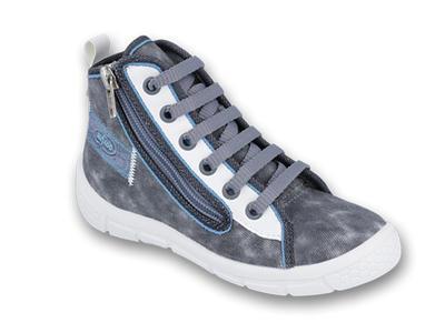547X001 25 - tenisky-kotníčkové, zip, šedá batika