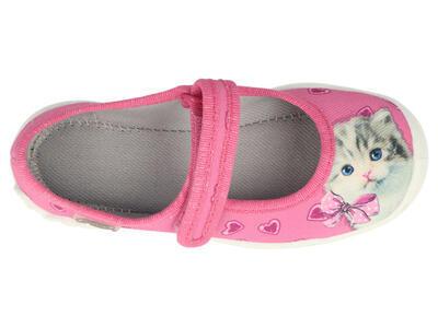 114X447 25 - dívčí balerínky Befado růžové, kočka - 2